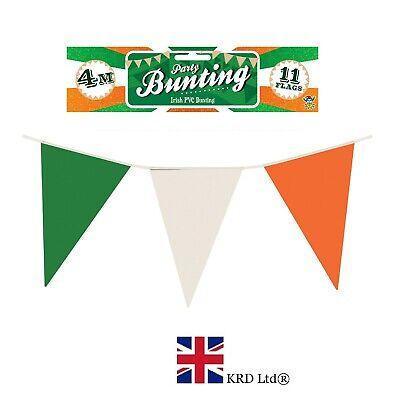 7m ST PATRICK`S Day NYLON FLAG BUNTING Ireland Irish Party Decoration Rugby UK ()