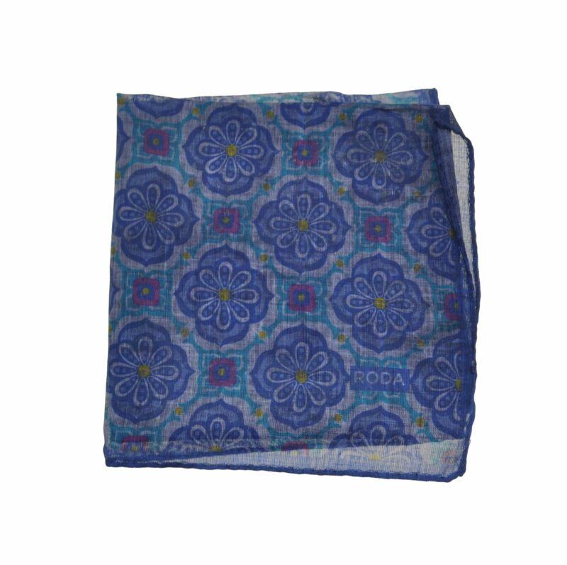 RODA Printed Cotton Pocket Square Pochette ~ Made in Italy