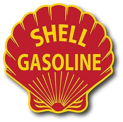 VINTAGE STYLE 6 INCH SHELL GAS GASOLINE MOTOR OIL WATERSLIDE DECAL STICKER