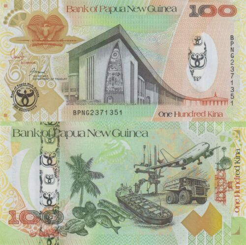 Papua New Guinea 100 Kina (2008) - Bank Commemorative/Polymer Hybrid/p37 UNC