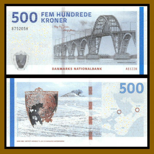 Denmark 500 Kroner, 2012 P-68d Bridge Serie Unc