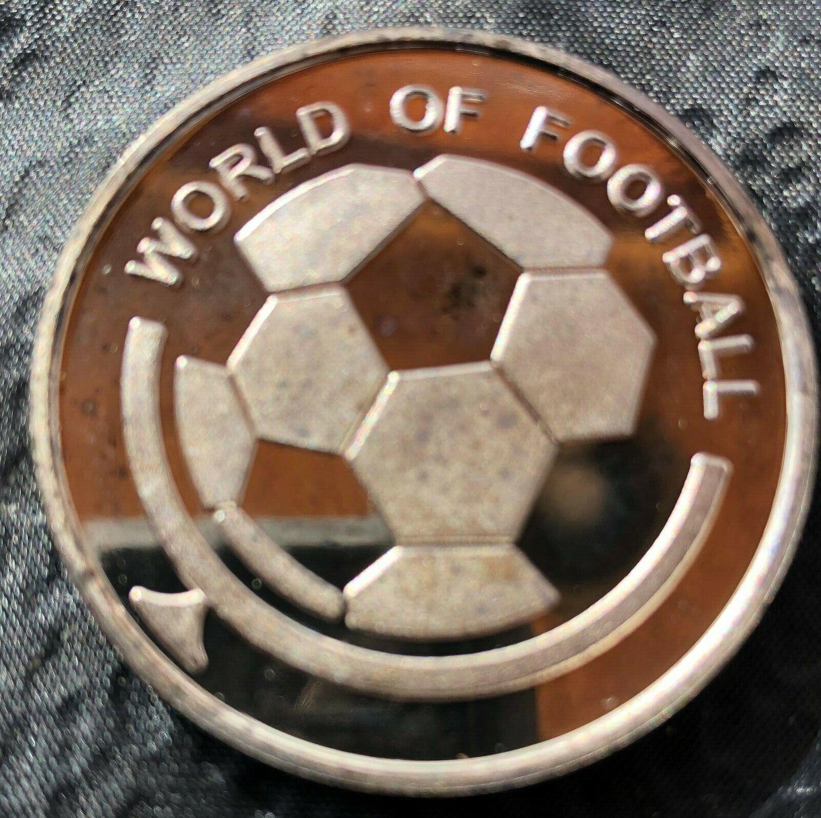 2002 world of football soccer 1000 shillings bank of uganda africa proof coin