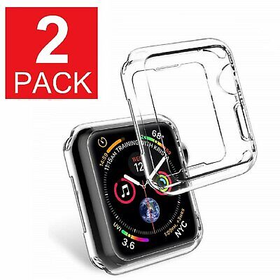 2-Pack For Apple Watch Series 5 Case TPU  Clear  40mm / 44mm Cases, Covers & Skins