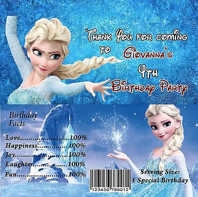 Frozen Candy Bar Wrappers, Party Supplies, Frozen, Invitation, Candy Bar Wrapper - Frozen Candy Bar