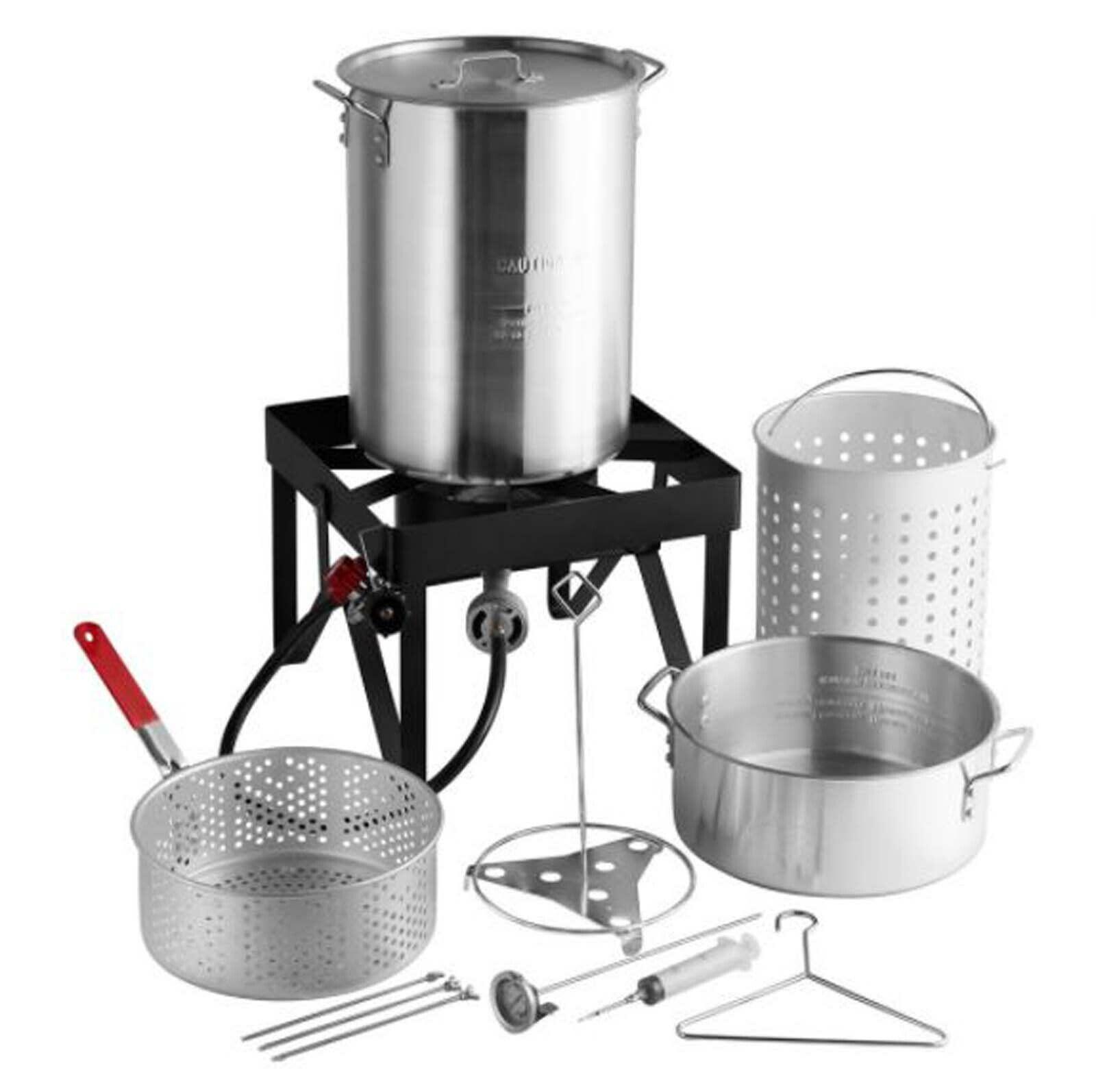 deluxe aluminum turkey fryer kit
