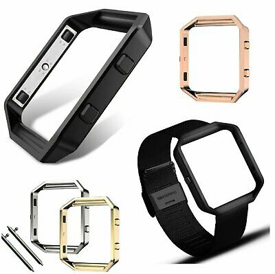 Stainless Steel Metal Frame Holder Replace Shell for Fitbit Blaze Smart Watch Jewelry & Watches