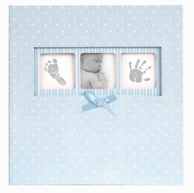 Baby Boy Photo Album Polka Dot Blue Photo Album Holds 200 Photos with Memo Area