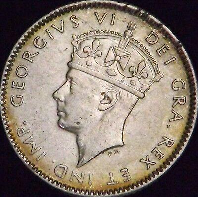 1947-C XF+ Details Rim Dings Canada - Newfoundland Silver 10 Ten Cents - KM# 20a