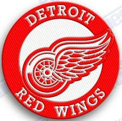 DETROIT RED WINGS  iron on embroidered embroidery PATCH nhl ice hockey PATCHES Red Wings Ice Hockey
