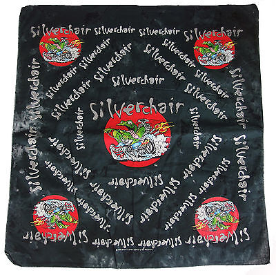 Silverchair Hot Rod Frog Tie Dye Black Bandana from 1996 - 21""