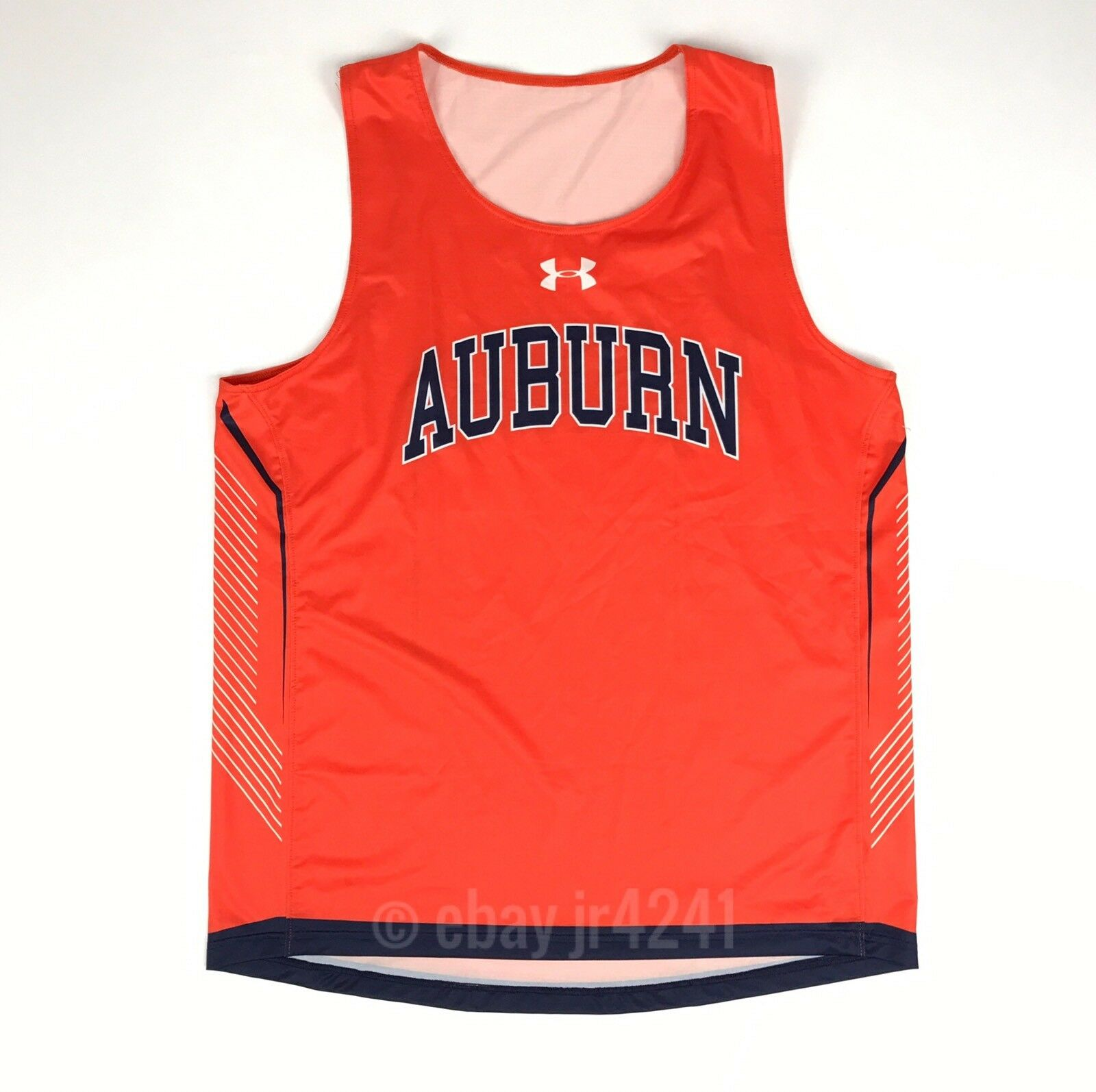 e900906dbd93 Details about Under Armour Auburn Tigers Armourfuse Running Singlet Orange  Tank Top Men s L