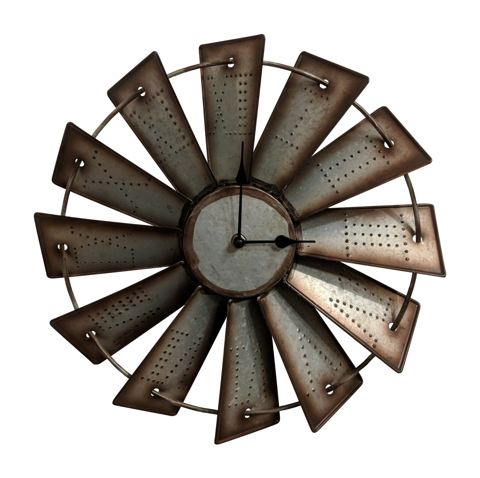Gianna's Home Rustic Farmhouse Country Metal Windmill Wall C