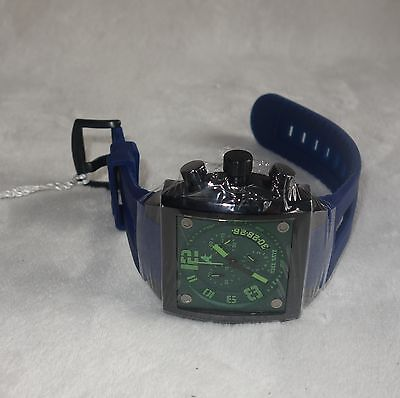 ADEE KAYE MENS WATCH green DIAL blue  BAND  AK7115-M - new for sale  Shipping to South Africa