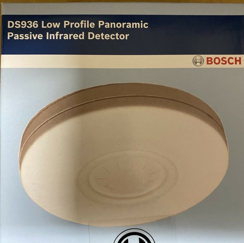 Bosch DS936 Low Profile Panoramic Passive Infrared Motion Detector Free Ship