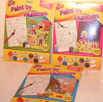 Artbox Paint By Numbers junior 3 Designs Paint your Favourite Theme
