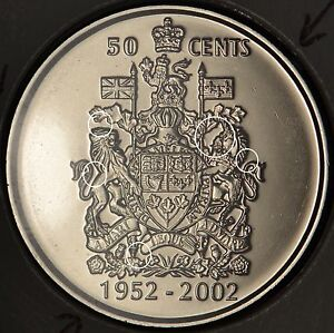 CANADA-50-cents-2002-P-with-DIE-CLASH-marks-on-reverse-MS