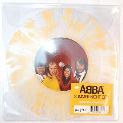 ABBA - SUMMER NIGHT CITY - NEW MINT CLEAR/YELLOW SPLATTER 7
