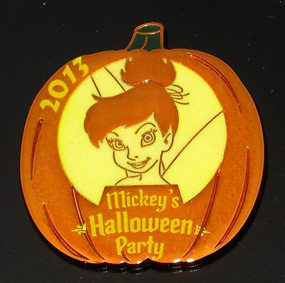 1 LE Disney Pin✿Halloween Pumpkin Mickey's Party TINKER BELL TINK Metallic GLOWS - Tinkerbell Halloween Pumpkin