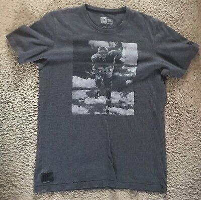 "New Era American Football Logo Grey T Shirt - Size L Large 40"" Chest"