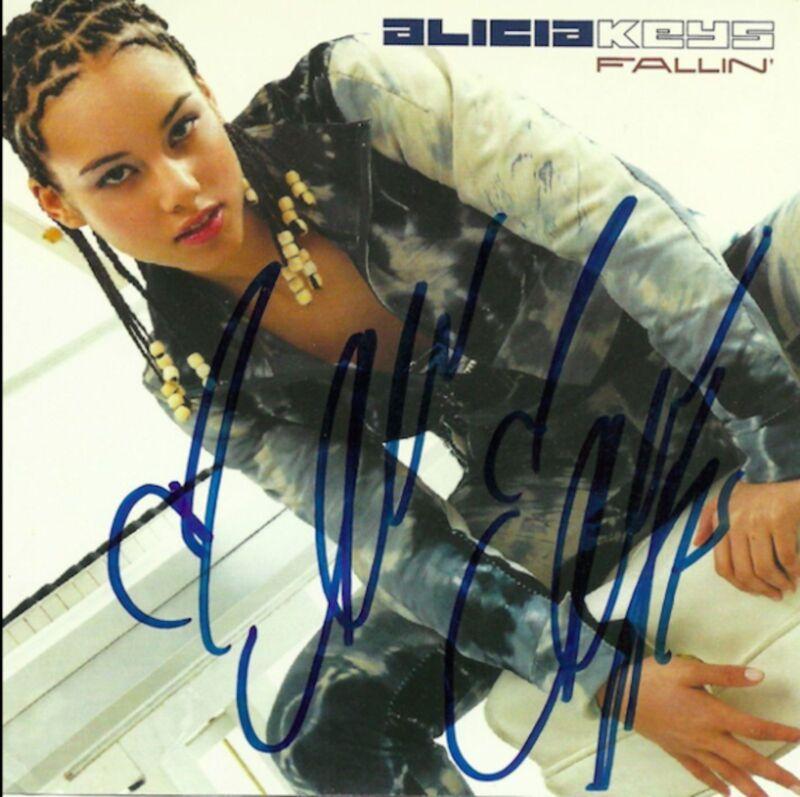 Alicia Keys signed Fallin promo cd single