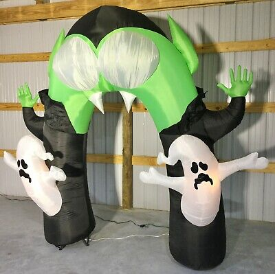 9ft Gemmy Airblown Inflatable Prototype Halloween Projection-Monster Arch #73661