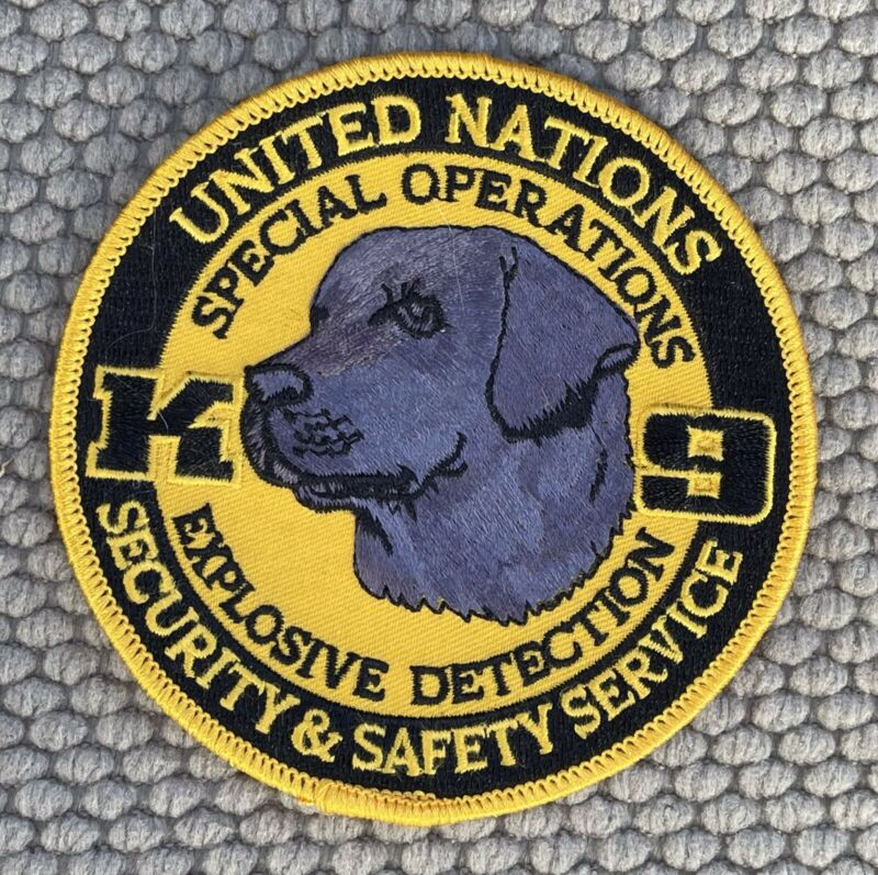 K-9 United Nations Special OP EDD Patch 4""