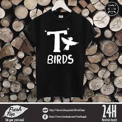 T-Birds T-Shirt John Travolta Fett Rydell Hoch Herrenabend Film Kostüm (Herren T Bird Kostüm)