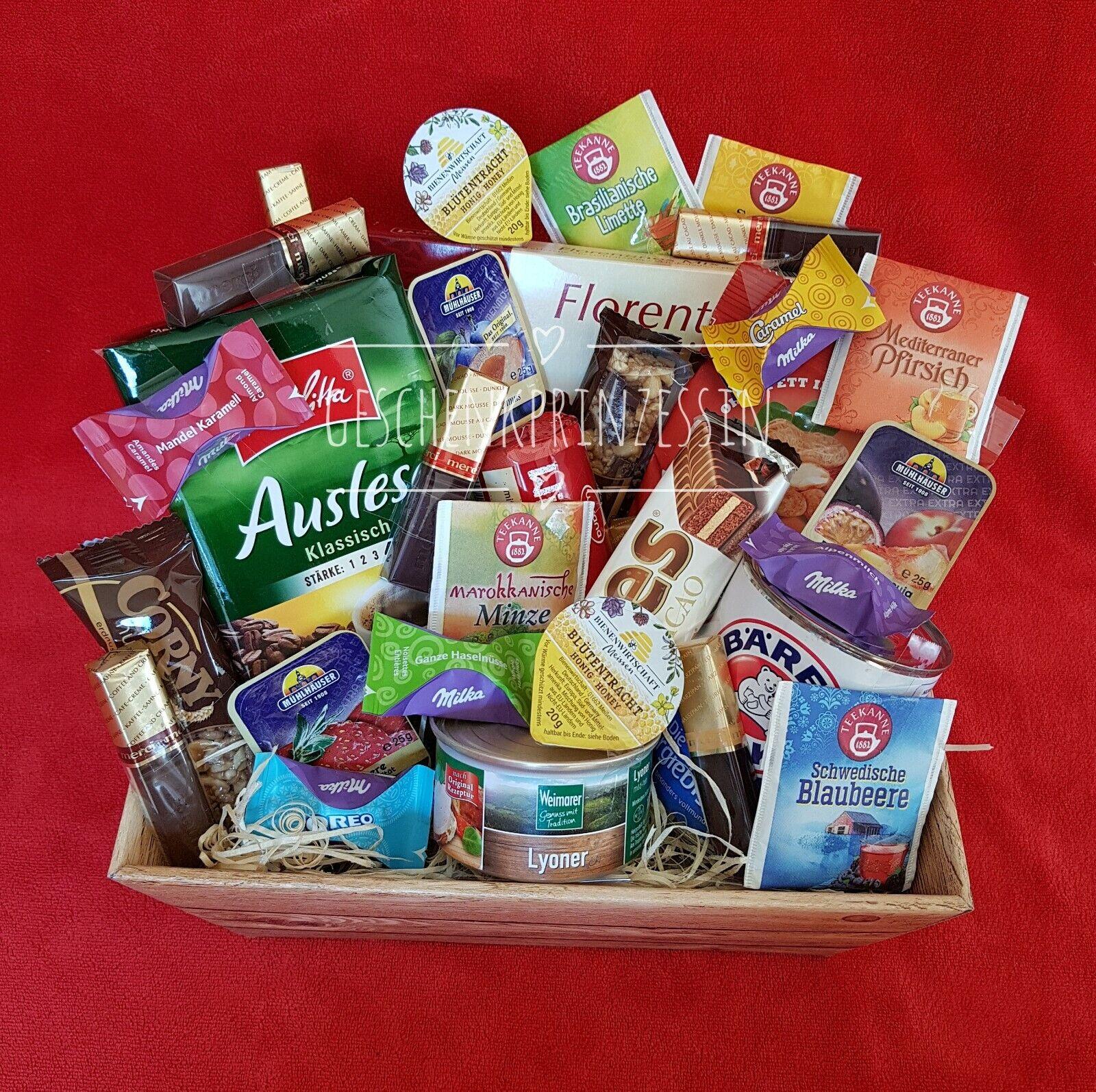Präsentkorb gefüllt Dankeschön Klein Geschenkkorb Pflegestation Krankenhaus
