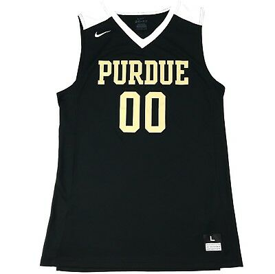 New Nike Purdue Boilermakers Basketball Jersey Mens Large Black Gold White
