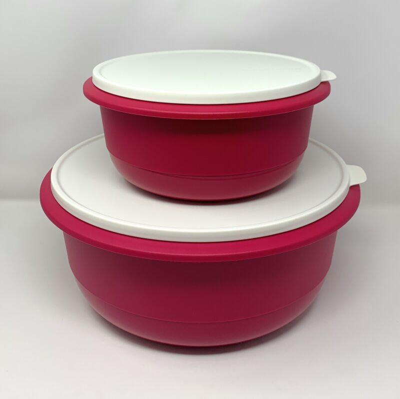 Tupperware Ultimate Mixing Bowls Set Of 2 in 40 Cups & 14 3/4 Cups NEW