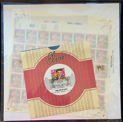 Elvis Complete Stamp Collection Commemorative Edition w/First Day Issue Stamps