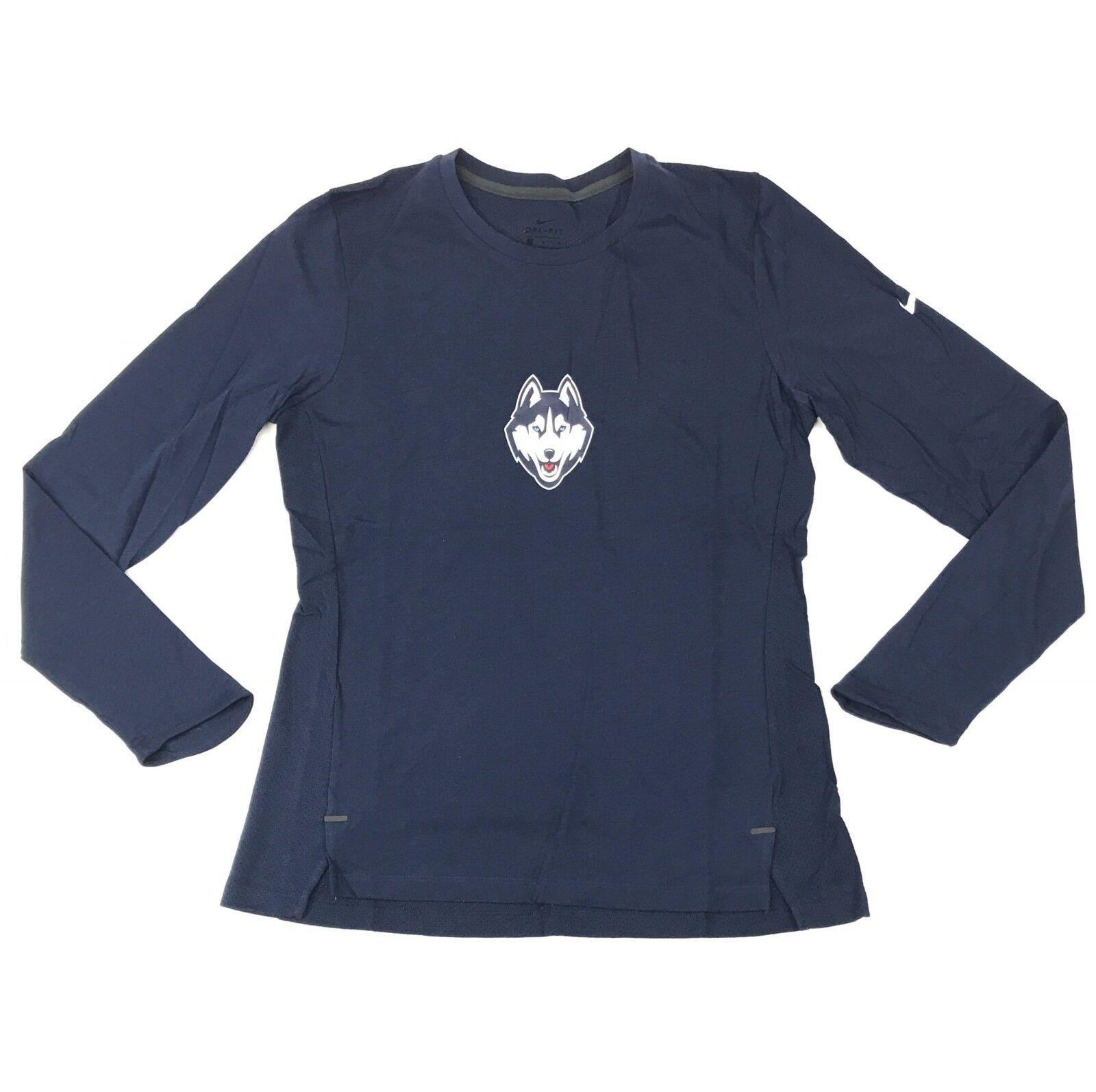 d08b3e31d Details about New Nike UCONN Huskies Hyper Elite Long Sleeve Shirt Women's  M Blue 867778 $60
