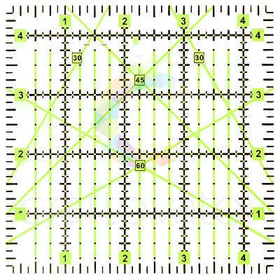 "4.5"" x 4.5"" Quilting Patchwork Ruler Premium Rotary Craft Square Imperial"