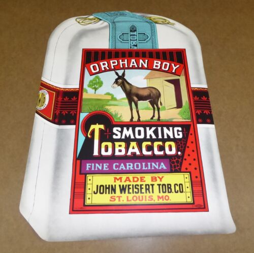 ORIGINAL VINTAGE ORPHAN BOY SMOKING TOBACCO PAPER POSTER C1930 ST LOUIS CAROLINA