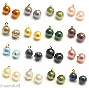 Swarovski-Crystal-Elements-5818-Pearls-ROUND-Half-Drilled-Bead