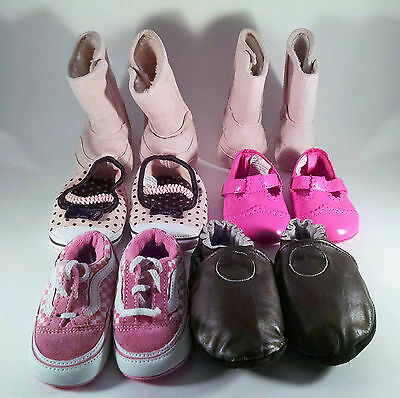 Infant Baby Girls Lot 6 Pairs Shoes Size 1-2 Vans Boots Gymboree Toddler](Vans Baby Booties)