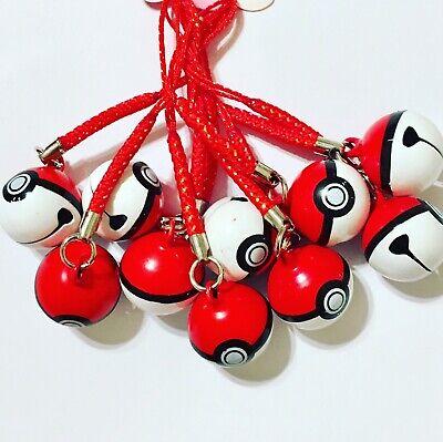Pokémon Pokeball Bell Phone Charm X1