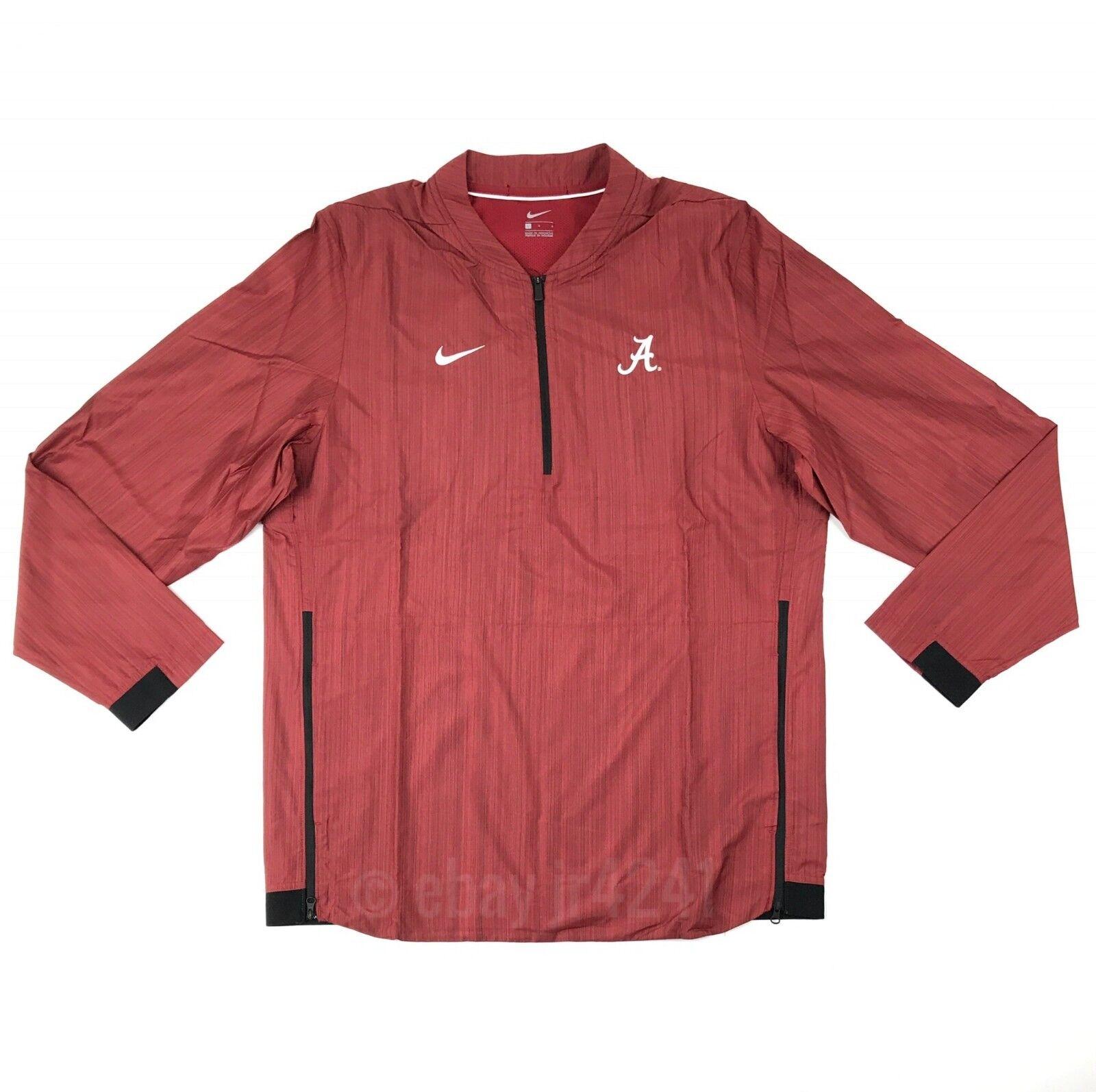 7f39d2017187 Details about New Nike Alabama Crimson Tide Lockdown Jacket Men s Large Red  1 4 Zip  75 908417