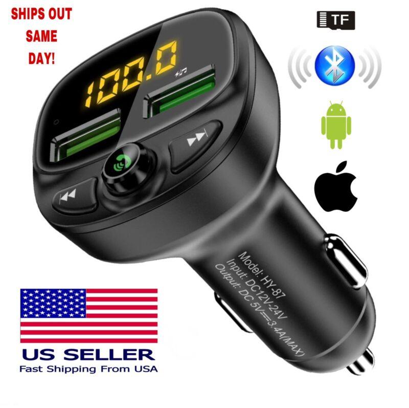 Bluetooth 5.0 FM Transmitter Car Radio MP3 Wireless Adapter USB Dual Charger