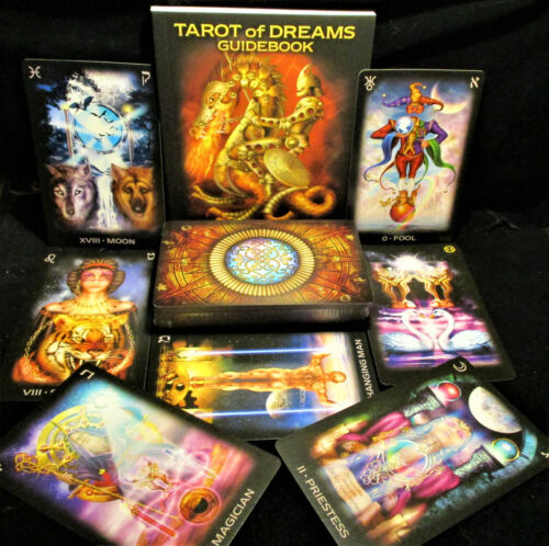 SEALED NEW ~ TAROT OF DREAMS CARDS & BOOK ASTROLOGICAL KABBALISTIC PSYCHOLOGICAL
