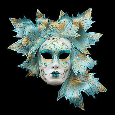 Mask Venetian Face Volto Magnolia Esprit Blue Golden Carnival from venice 4
