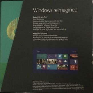 Windows 8 Pro 32 and 64 bit DVD