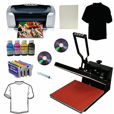 15x15 Heat Pressprinterrefil Ink Cartridgetshirt Heat Transfer Startup Bundle