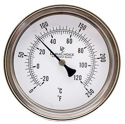 Adjustable Bimetal Thermometer 5 Face X 4 Stem 0-250f Wcalibration Dial