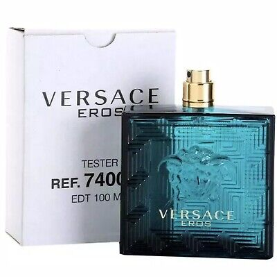 Versace Eros By Versace 3.4oz 100ml EDT Spray New Tester Cologne For Men W/O Cap