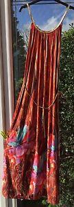 Gorgeous Grecian Style Burnt Orange Spanish Maxi Dress BNWT Size 14 16 18 OG1