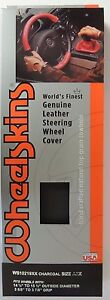 Wheelskins - Original Charcoal Leather Steering Wheel Cover AXX