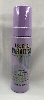 Isle of Paradise EXPRESS ULTRA-DARK Self-Tanning MOUSSE 6.76 oz FULL Size NEW