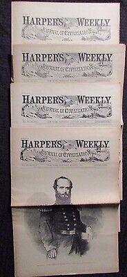 1861/62 Harper's Weekly Journal Newspaper Reissue LOT of 4 FN- 11/2 11/23 1/18 3