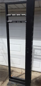 Relay rack / H frame with cable organizer